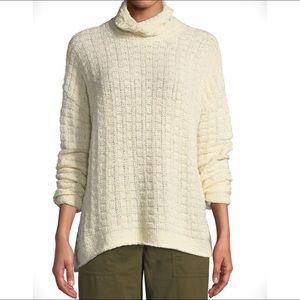 Eileen Fisher Funnel Neck Sweater Peruvian Cotton